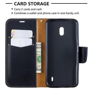 Image 5 - Cartera caja del teléfono para Nokia 2,1, 2,2, 3,1, 3,2, 4,2, 5,1 1 Plus Flip de cuero de la correa de muñeca de ranuras de tarjeta magnética cierre cubierta