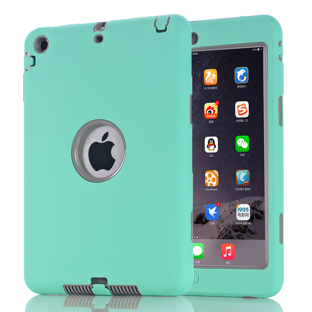 For iPad mini 1 2 3 Retina Kids Baby Safe Armor Shockproof Heavy Duty Silicone Hard Case Cover Screen Protector Film in Tablets e Books Case from Computer Office