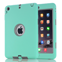 For iPad mini 1/2/3 Retina Kids Baby Safe Armor Shockproof Heavy Duty Silicone Hard Case Cover Screen Protector Film new for ipad mini 4 cases flowers kids baby safe silicone cover shell armor shockproof heavy duty hard tablet case stylus pen