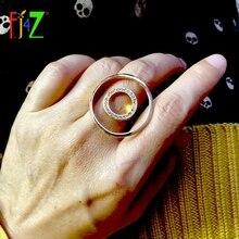 F. J4Z Брендовое дизайнерское кольцо на палец для женщин, рок Круглый Круг, верхние кольца, стразы, женские кольца, ювелирные изделия anillos de mujeres