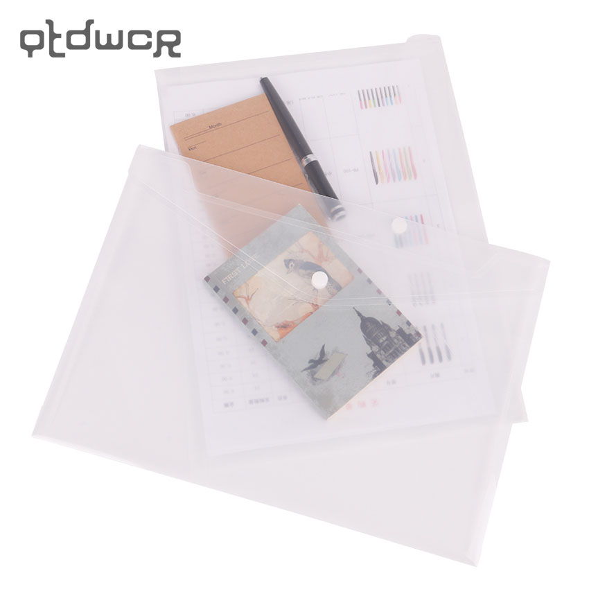 1PC Simple Transparent A4 Big Capacity Document Bag Business Briefcase Storage File Folder For Papers Stationery Student Gift