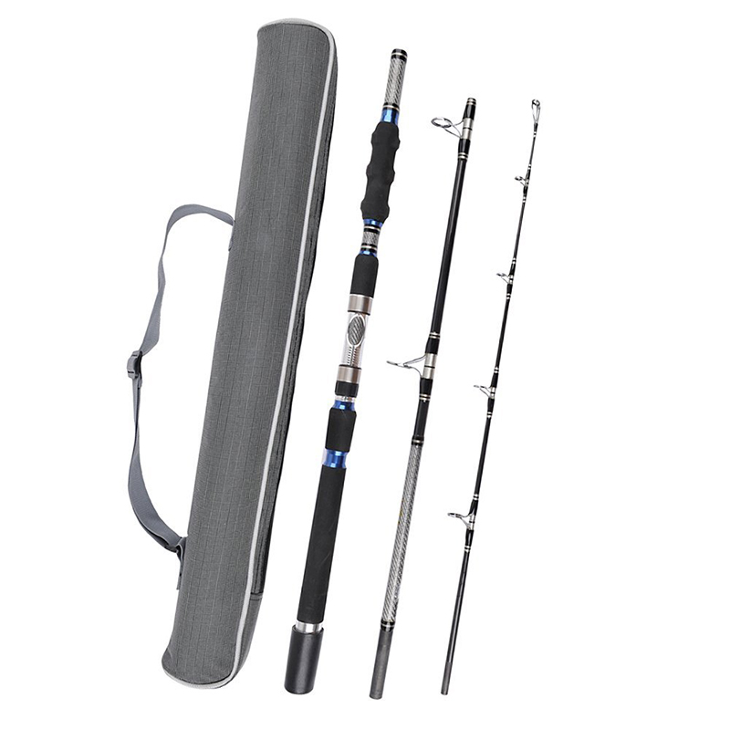 Hennoy 3 Section Travel Boat Fishing Rod Deep Sea Fishing Spin Rods 1 8m 1 95m