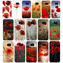 279H Red Poppies On Soft TPU Silicone Cover Case for