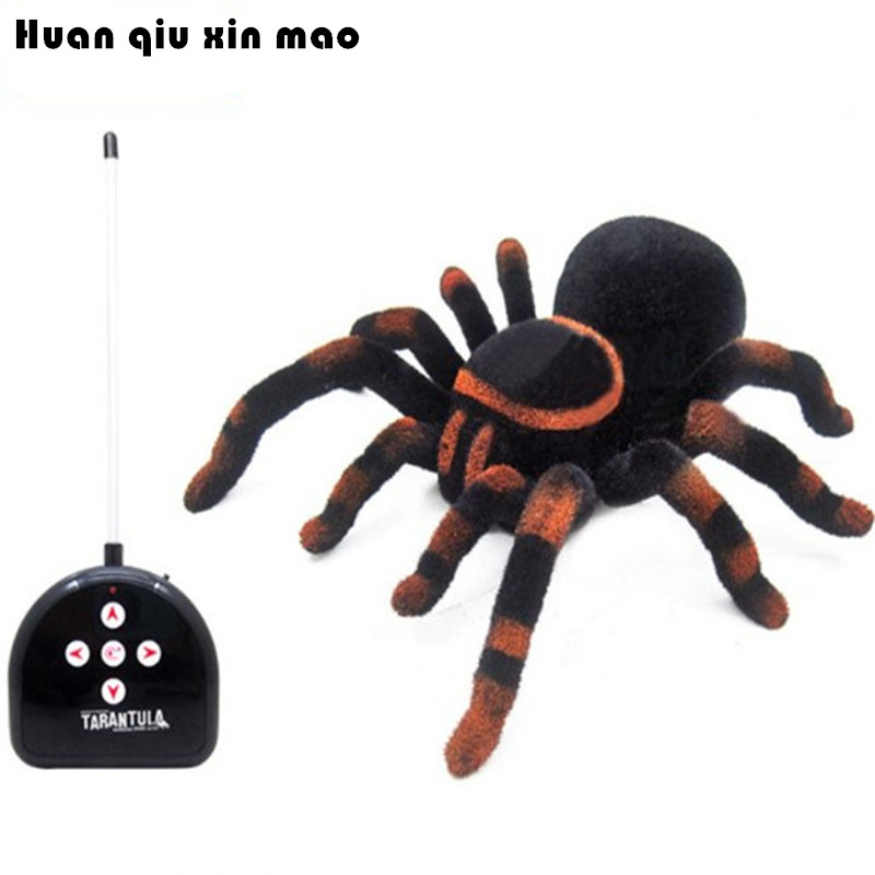 Gags & Practical Jokes Toys Remote Control Infrared Realistic RC Spider Toys Electric toys For Children цена 2017