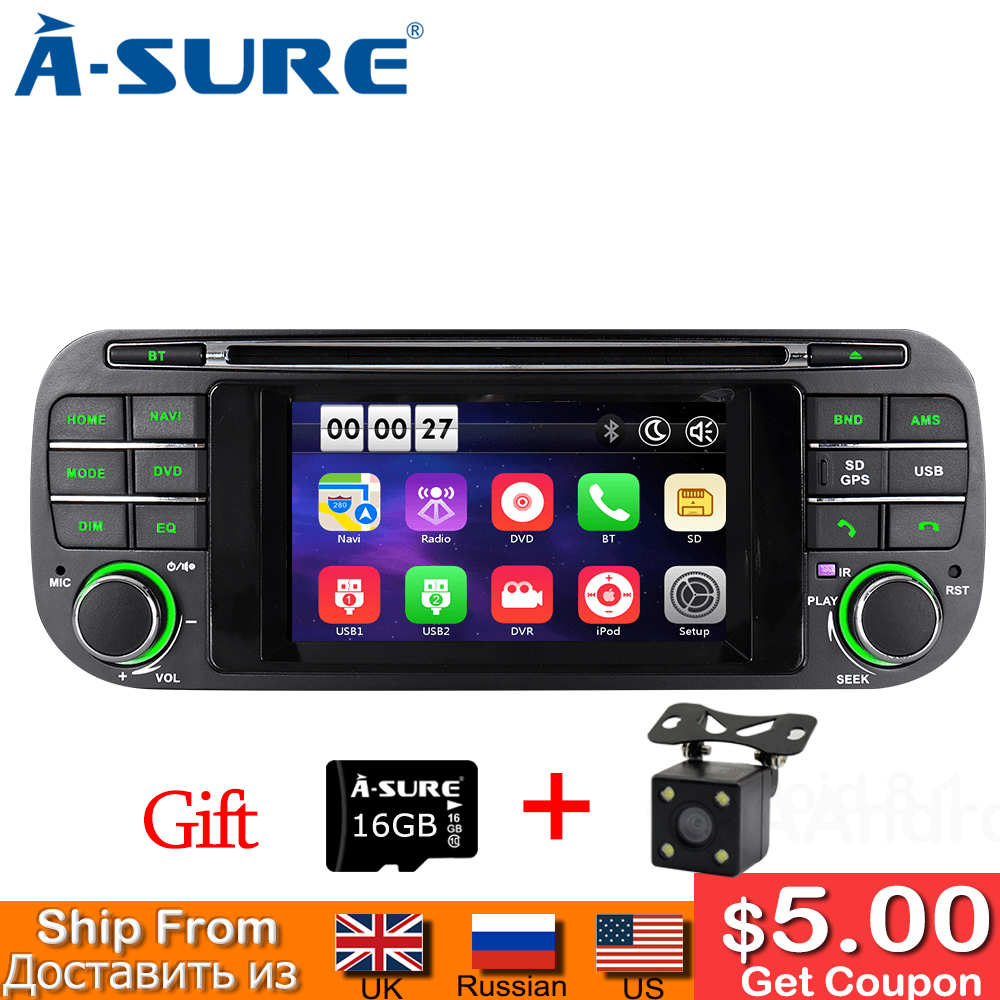 A-sure 4.3 pouces Android Radio voiture DVD stéréo GPS Sat Navi pour Jeep Grand Cherokee 2002-2004 Jeep Wrangler 2003-2006 16G ROM OBD +