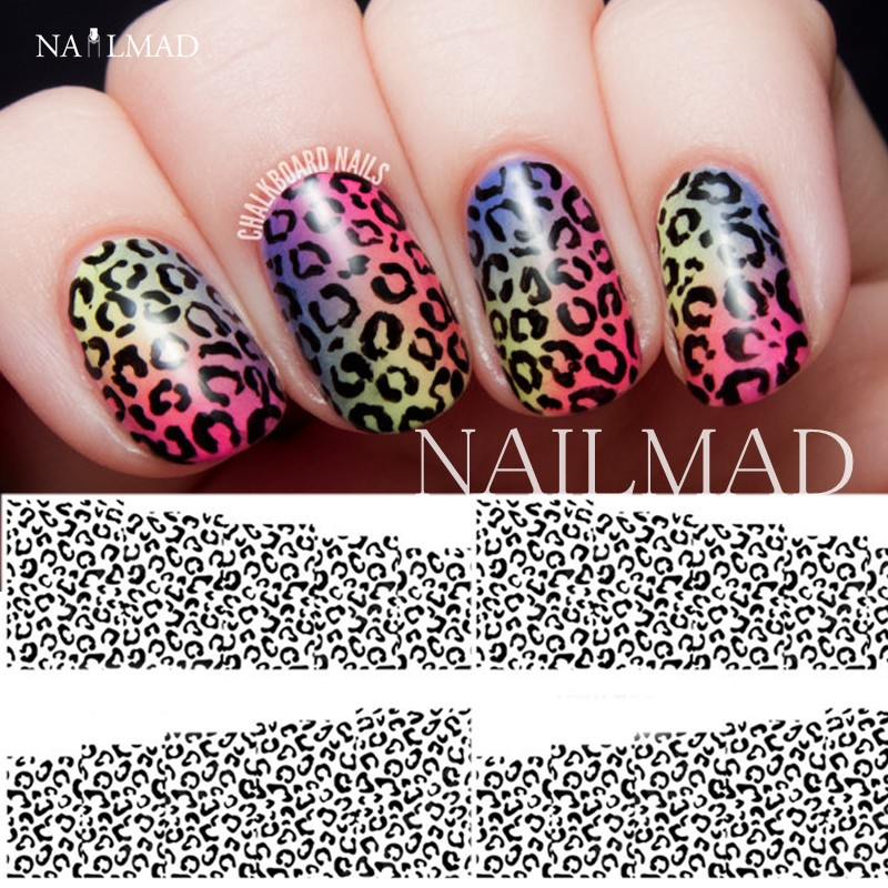 1 sheet nailmad leopard print nail water decals animal print 1 sheet nailmad leopard print nail water decals animal print transfer stickers ombre nail art sticker tattoo decals in stickers decals from beauty prinsesfo Image collections
