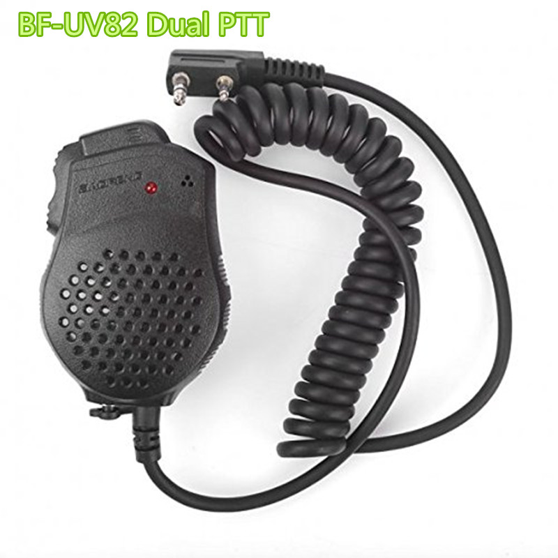 Baofeng UV-82 Dual PTT Microfoon Walkie talkie speaker Mini MIC behandeld pofung bf-uv82HX uv5r 888s 5re 5rc 5ra 5rb 5re plus