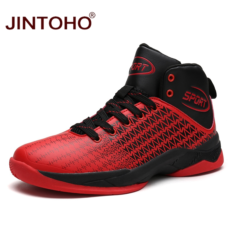 JINTOHO New Men Basketball Shoes Male Ankle Boots Outdoor ...
