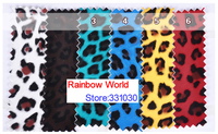 3 Green High Quality Mirror PU Leather Fabric With Leopard Pattern For DIY Car Shoes Bags