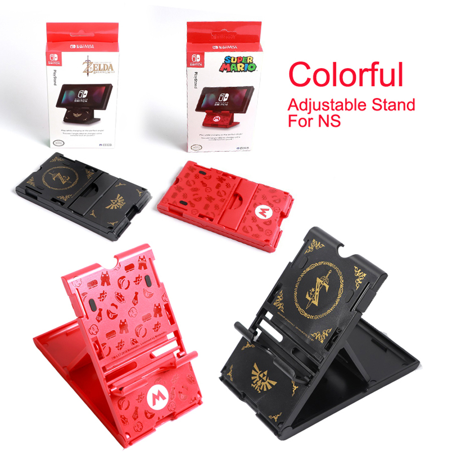 Foldable ABS Compact Bracket Play Hard Holder Adjustable Stand for Nintend Switch For NS Console Controller