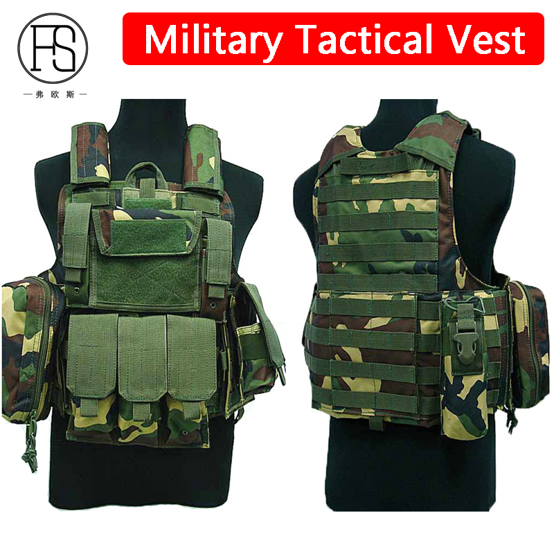 Men Camouflage Military Tactical Hunitng Vest Outdoor Paintball Airsoft Gear Tactical Vest Army Training Uniform Combat Vest