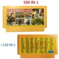 2 unids 60 pin cartucho de juego de 8 bits Jugador de Juegos de Tarjeta De familia TV Consola de Videojuegos 500 EN 1 + 150 EN 1 Jugadores recomendar