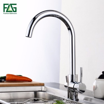 цена на FLG Filter Kitchen Faucet Drinking Water Chrome Deck Mounted Mixer Tap 360 Rotation Pure Water Filter Kitchen Sinks Taps