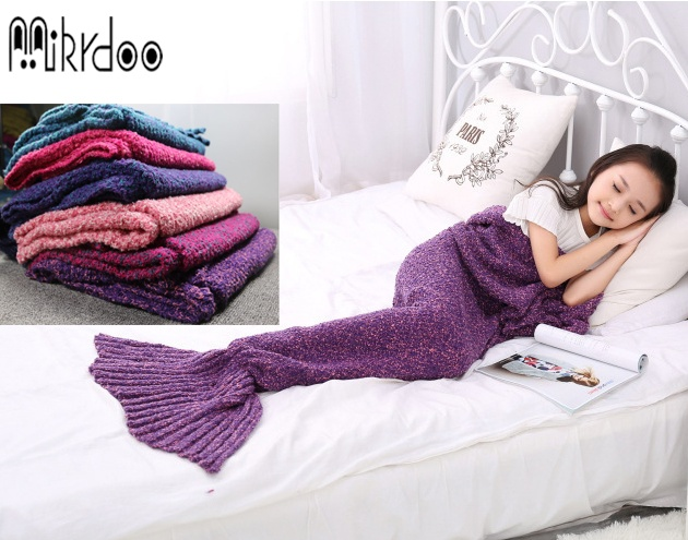 Buy Mikrdoo Size Baby Kids Women Sleeping Bag Crochet Throw Bed Wrap Blanket