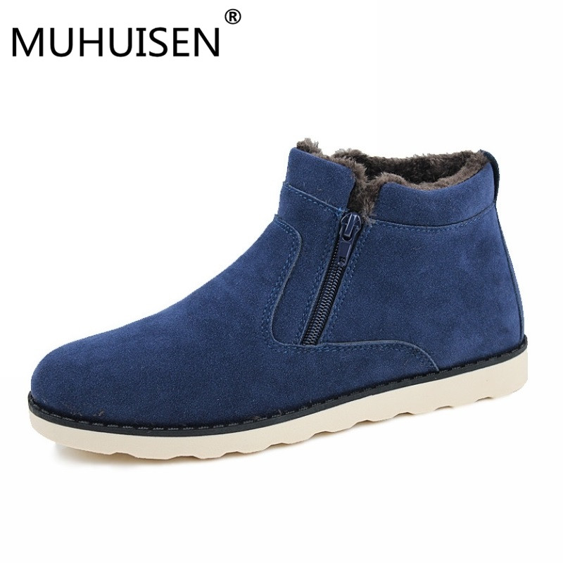 Big Size Men Shoes 2018 Top Fashion New Winter Casual Ankle Boots Warm Winter Fur Shoes  ...