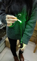 Krachtige Groene Laser Pointers Zaklamp Schieten vogel Snijden papier Doos Sigaret Hout 10000 m laser met Caps