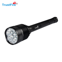 7xT6 LED Tactical Flashlight TrustFire X100 8000 lumens powerful light Torch Self defense use 26650 rechargeable lamp camping