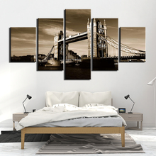 Wall Art Canvas Home Decoration HD Printed 5 Panel London City Painting Modern Posters Cuadros Modular Pictures For Living Room