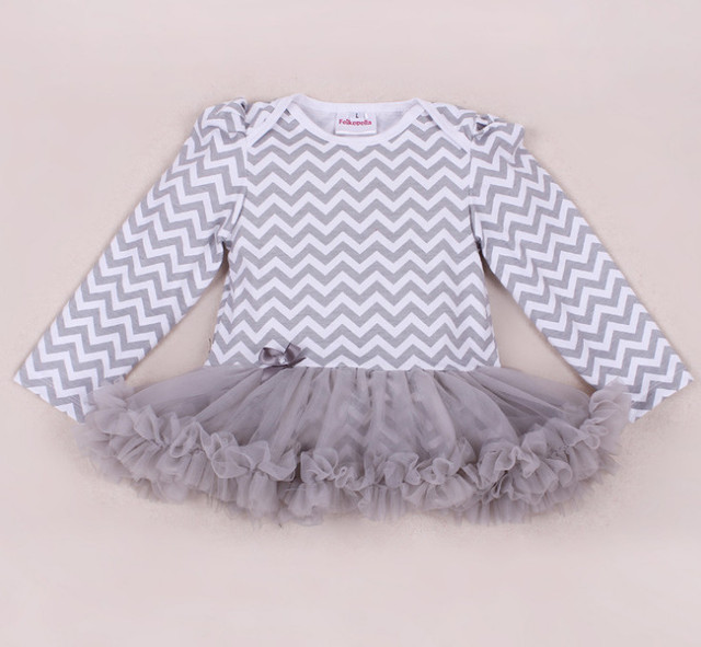 Newborn Baby Rompers Dress Fashion Cotton Baby Girl Chevron Striped