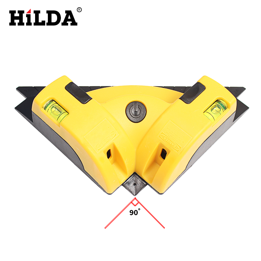 HILDA High Quality Vertical Pro Vertical Horizontal nivel laser level Line Projection Square Right Angle 90 degree MeasuringTool kapro laser level laser angle meter investment line instrument 90 degree laser vertical scribe 20 meters