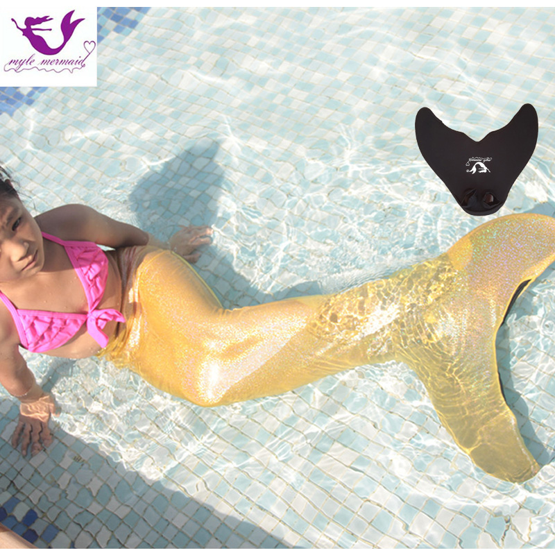 Mermaid Tails for Swimming With Monofin Mermaid Costumes Kids Swimmable Cosplay Costume Girls Clothing Children Mermaid Tail