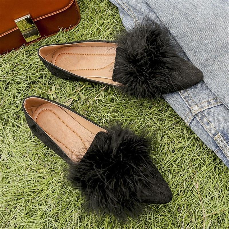 Orteil En Appartements Couleur Non Métal Unie Mocassins Décoration Beige slip Pointu Dames noir Maziao Chaussures Confortable wSTYwq
