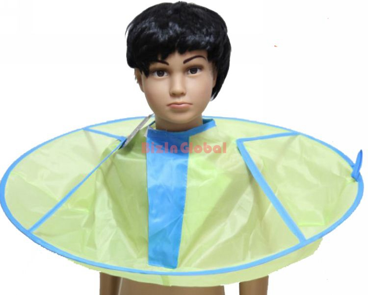 1 Piece Baby Infant Child Hair Bib Capes For The HomeHair Stylist Personal Use Cloak Nylon Cloth Like An Inverted Umbrella