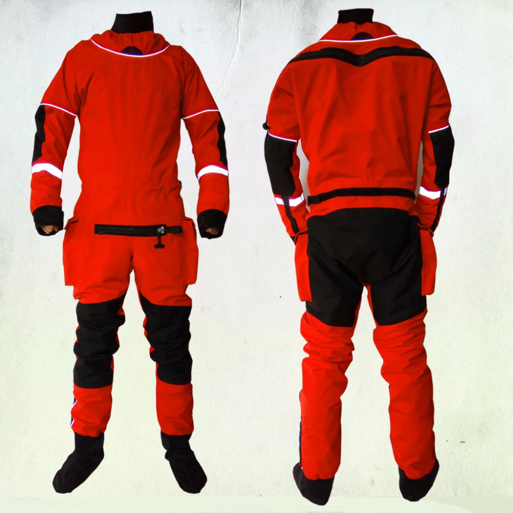 2018 UNISEX dry suit latex neck/wrist,attached socks for water recue whitewater,kayak,rafting,kateboarding,canoeing,fishing kayak suit