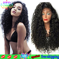 Fashion African American Synthetic Wigs Long Lace Front Wig Synthetic Curta Afro Kinky Curly Hair Wig Synthetic Lace Frontal Wig