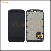 Yueyao черный для Motorola Moto G XT1032 XT1033 ЖК-дисплей Дисплей Сенсорный экран планшета с рамкой Рамка полная сборка, бесплатная доставка