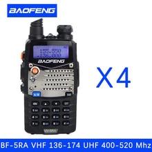 (4 PCS)Baofeng UV5RA Ham Two Way Radio walkie talkie Dual-Band Transceiver (Black)