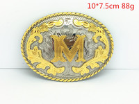 Oro bianco occidentale doppio colore in lega di zinco fibbia lettere tra animale modello retrò burlone cinghia di modo fibbie per 4.0