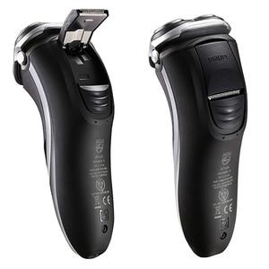 Image 2 - פיליפס AquaTouch רטוב ויבש חשמלי רוטרי מכונת גילוח עם TripleTrack ראשי, smartPivot ראשי גוזם AT921/28 עבור גברים שחור