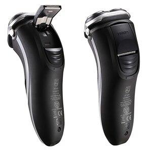 Image 2 - Philips AquaTouch umido e secco rasoio elettrico rotativo con TripleTrack teste, smartPivot teste trimmer AT921/28 per gli uomini Nero