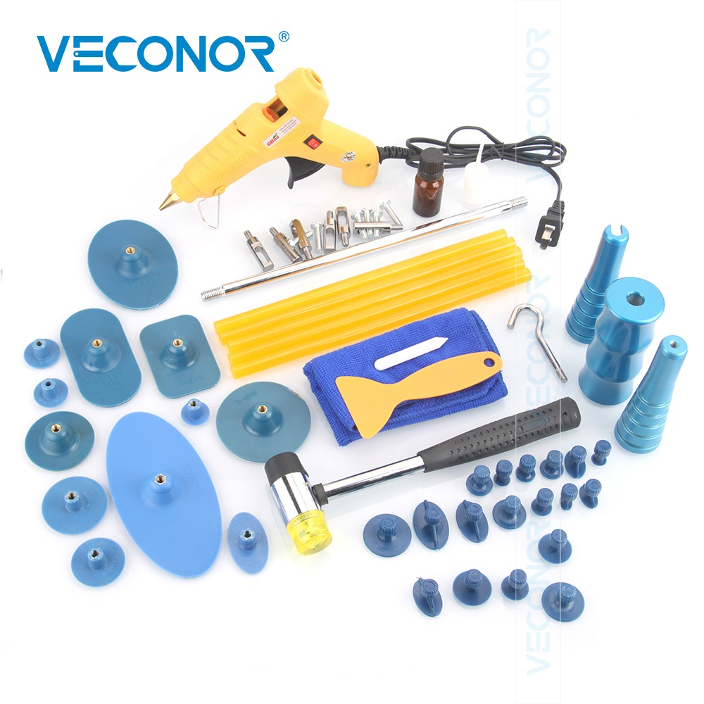 Veconor Panel Dent Repair Tool Auto Dent Puller PDR Tool With 30PCS Glue Puller Tabs