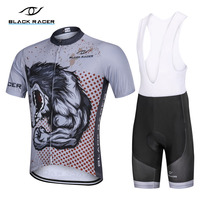 BLACK RACER Short Sleeve Cycling Jersey Summer Bike Clothing uniform Breathable Bicycle Clothe Mallot Ciclismo Hombre mtb Jersey