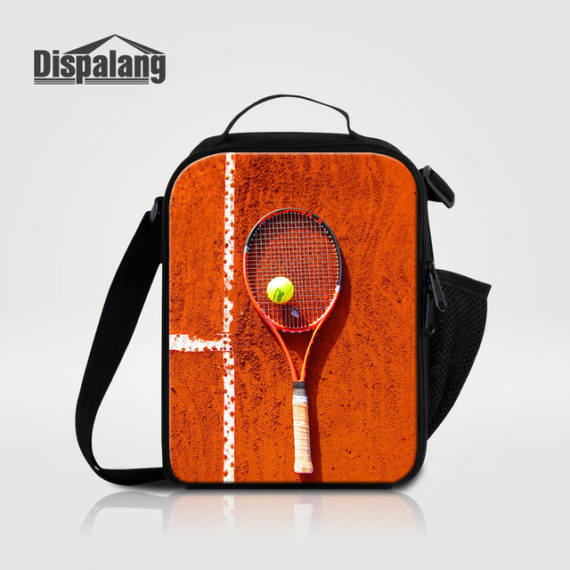 Dispalang Unique Racket Ball Print Lunch Bags For Children Men S Small Thermal Insulated Food Picnic
