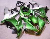Лидер продаж, YZF1000 R1 04 05 06 обтекатель комплект для Yamaha YZF R1 2004 2006 Race Bike зеленый и серебро Средства ухода за кожей kit (литья под давлением)