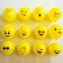 20 pcs/lot 12inch emoji latex balloons ballons expression ballon birthday party Emoticons helium