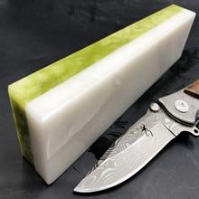 8000/10000 двухсторонний профессиональный натуральный зеленый агат и белый агатовый нож точилка точильный камень точильные камни