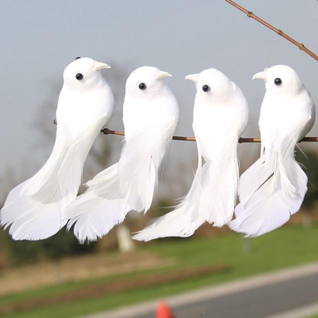 2pcs/set Artificial Foam Feather Lifelike Beads Simulation Bird DIY Party Crafts Ornament Props Home Garden Wedding Decoration 5
