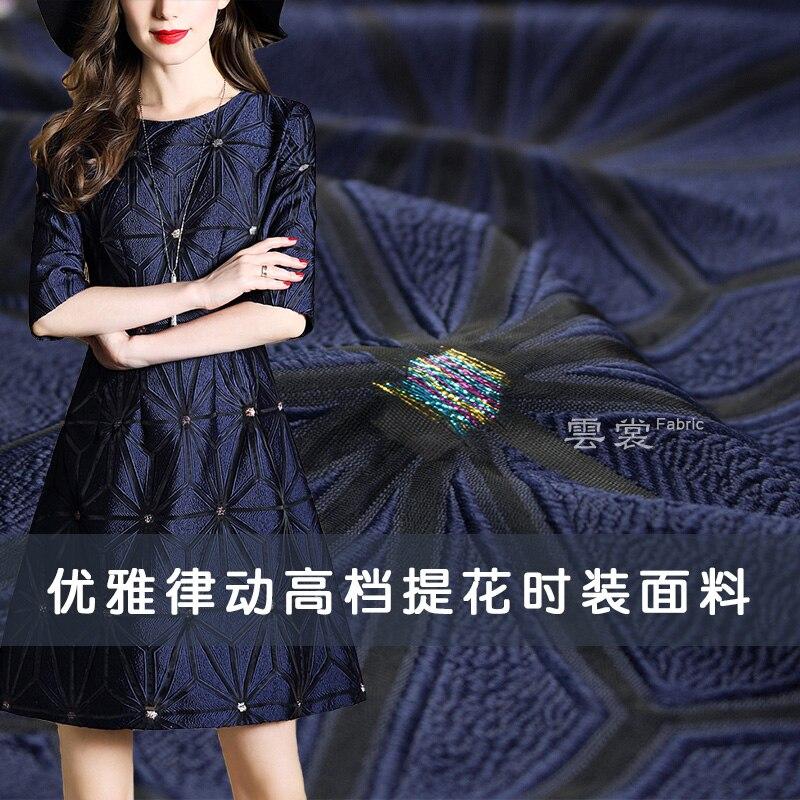 145 cm organza jacquard tissu marque italienne teint en fil mode cheongsam robe jacquard tissu matériel en gros tissu