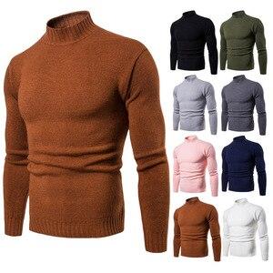 Image 2 - Vomint 2019 tout nouveau Pullovers pour hommes chandails à col roulé chandails basique décontracté Must Have icônes manches longues col haut chandail