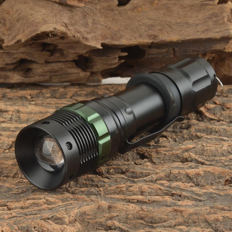 UltraFire 600lm 3-Mode White Zooming Flashlight with XM-L T6 LED bulb - Black (1 x 18650 / 3 x AAA) ultrafire e03 30lm led white light flashlight black 1 x aaa