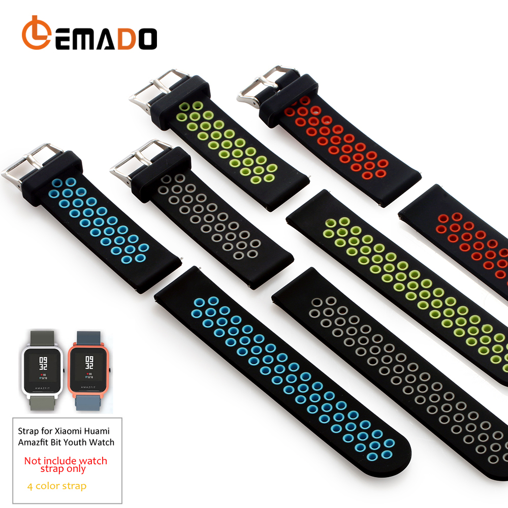 Lemado Silicone Strap For Xiaomi Huami Amazfit Bip Bit Pace Lite Youth Smart Watch Band For Huami Amazfit Youth Bracelet Strap