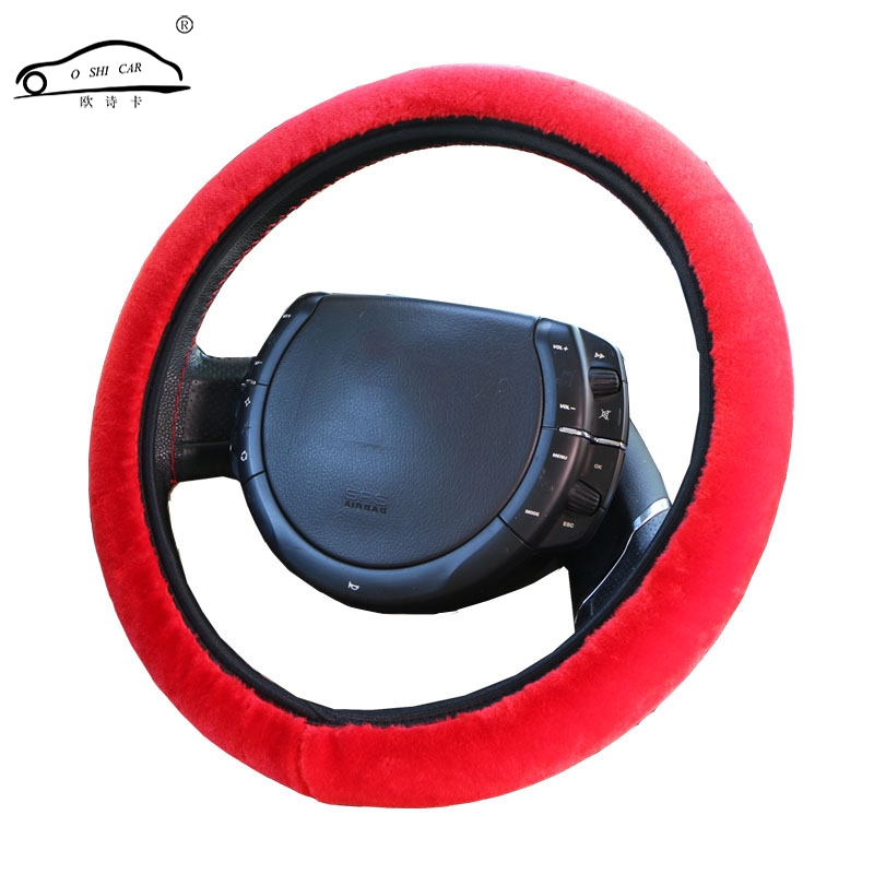 High density thickened Car Fur Steering Wheel Cover Universal O SHI CAR new Soft Warm Plush Winter Steering Wheel Cover
