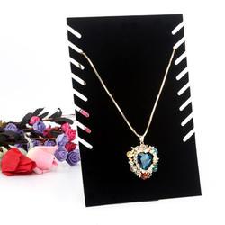 Ювелирный органайзер, ожерелье, цепочка, витрина для ювелирных украшений браслетов, держатель, подставка, черная бархатная доска