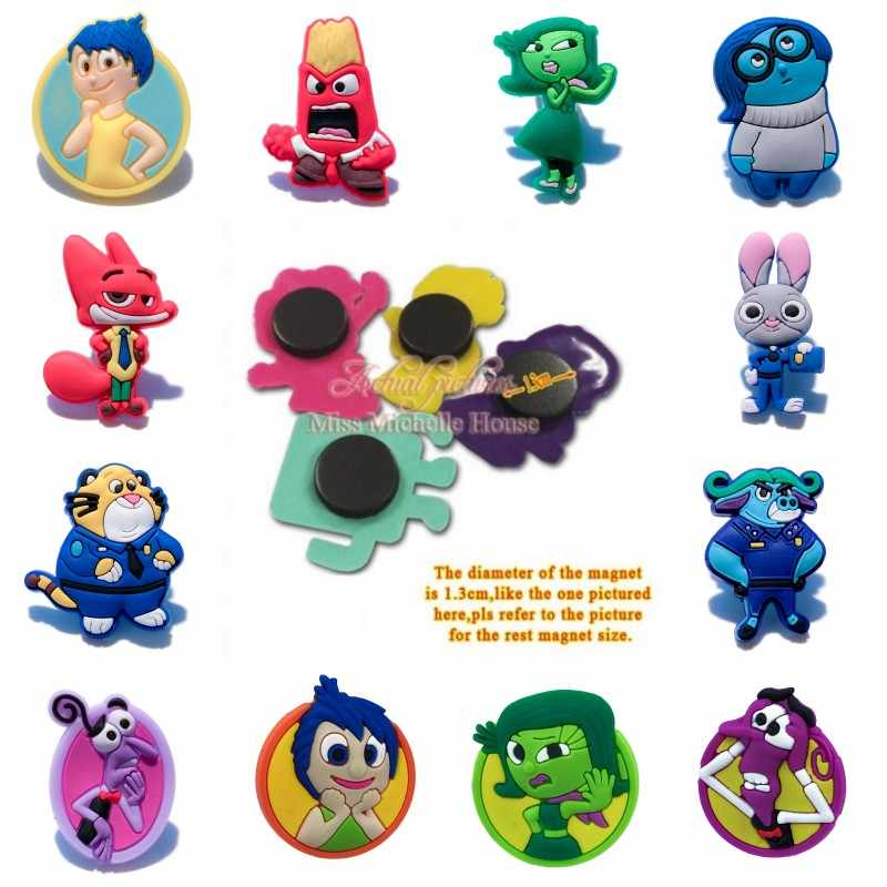 8pcs Inside Out Cartoon Fridge Magnets Soft Pvc Whiteboard