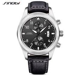SINOBI Quartz male watches Sports Watches relaxation Mens Stopwatch 30m Waterproof Watch Reloj Hombre Chronograph Watches