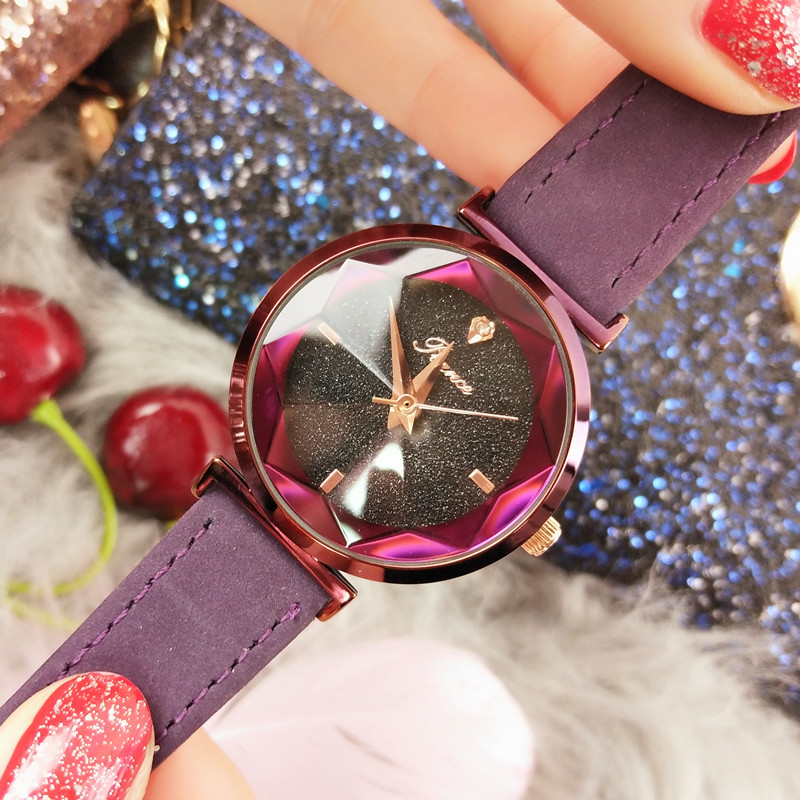 New 2019 Womens Watches Fashion Casual Simple Style Quartz Leather Strap Wristwatch Ulzzang Women Watch